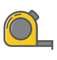 tape measure filled outline icon build and repair vector image vector image