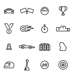 Thin line icons - racing vector