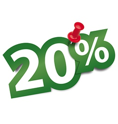 Twenty percent sticker vector image vector image