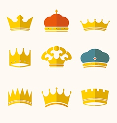 vintage antique crowns vector image