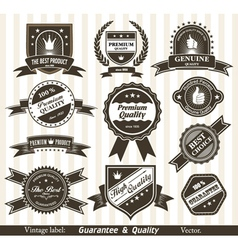 vintage styled labels vector image