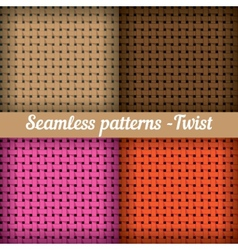 Weaving basket set of seamless abstract pattern vector