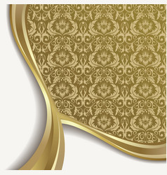 white and gold background vector image