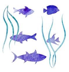 White fish vector