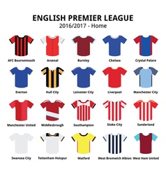 English premier league 2016 - 2017 football vector