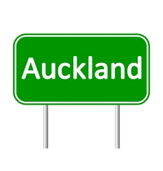 Auckland road sign vector image