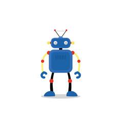 Blue robot icon vector