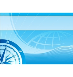 Blue travel background vector image