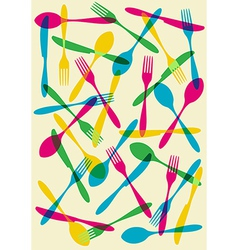 Cutlery transparency pattern background vector image