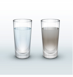 clean dirty water vector image