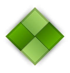 Business four squares green vector