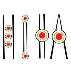 set of sushi sign vector image