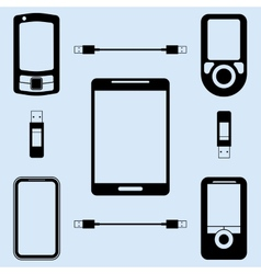 Different models of phones vector