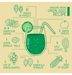 Hardcore greens green juice recipes detoxify vector