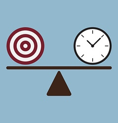 Target and time clock on scale vector
