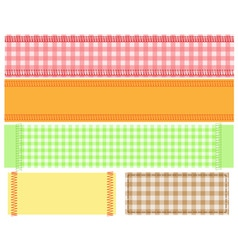 Checkered fabric gingham vector