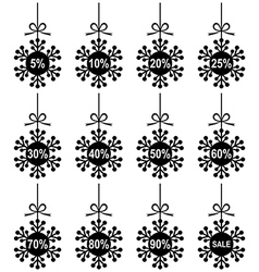 snow sale vector image
