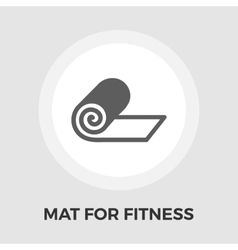 Mat for fitness flat icon vector