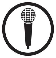 Microphone black sign vector