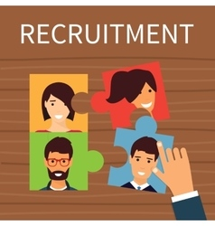 Human resources recruiting concept vector
