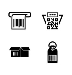 barcode simple related icons vector image