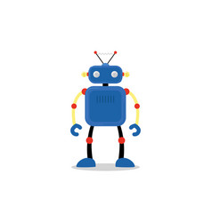Blue robot icon vector