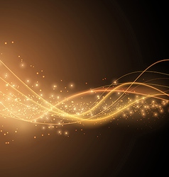 Bright solar orange swoosh speed wave modern vector