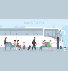 Bus station vector