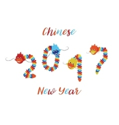Chinese New Year Asian symbols of good luck vector image