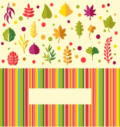 colorful leaves in flat design vector image vector image