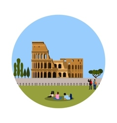 Colosseum icon isolated on white background vector image vector image