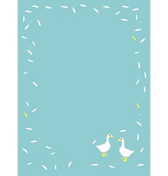 Cute cartoon Goose animal background vector image