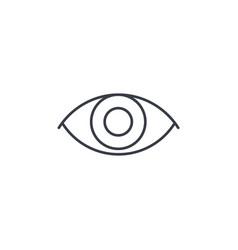 eye thin line icon linear symbol vector image vector image