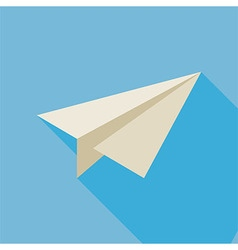 Flat Freelance Paper Plane with Long Shadow vector image vector image