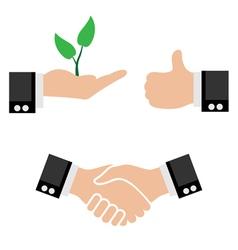 hand icon set vector image vector image