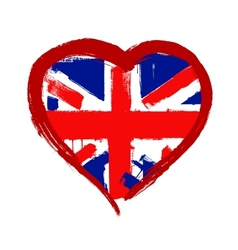 I Love Britain vector image vector image