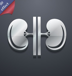 Kidneys icon symbol 3D style Trendy modern design vector image