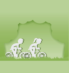 ride bike vector image