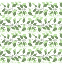 Seamless pattern branches and leaves of camphor vector
