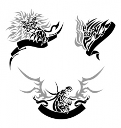tattoo with templates vector image vector image
