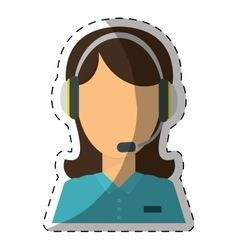 technical assistant icon image vector image