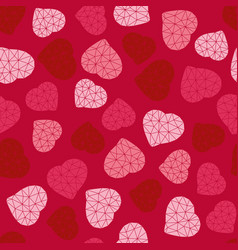valentines day background low-poly polygonal vector image