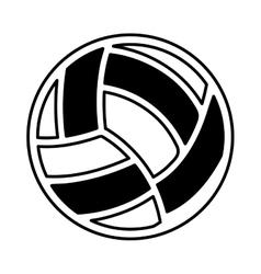 Volleyball ballooon isolated icon vector