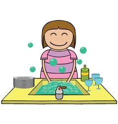 Washing time cartoon vector