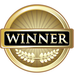 winner gold icon vector image vector image