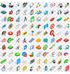 100 project icons set isometric 3d style vector