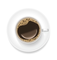 Realistic Cup of Black Coffee vector image