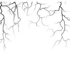 Thunder bolts frame in black white vector image