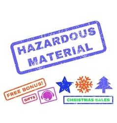 Hazardous material rubber stamp vector