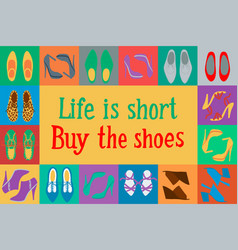 Shoes in pop art style vector